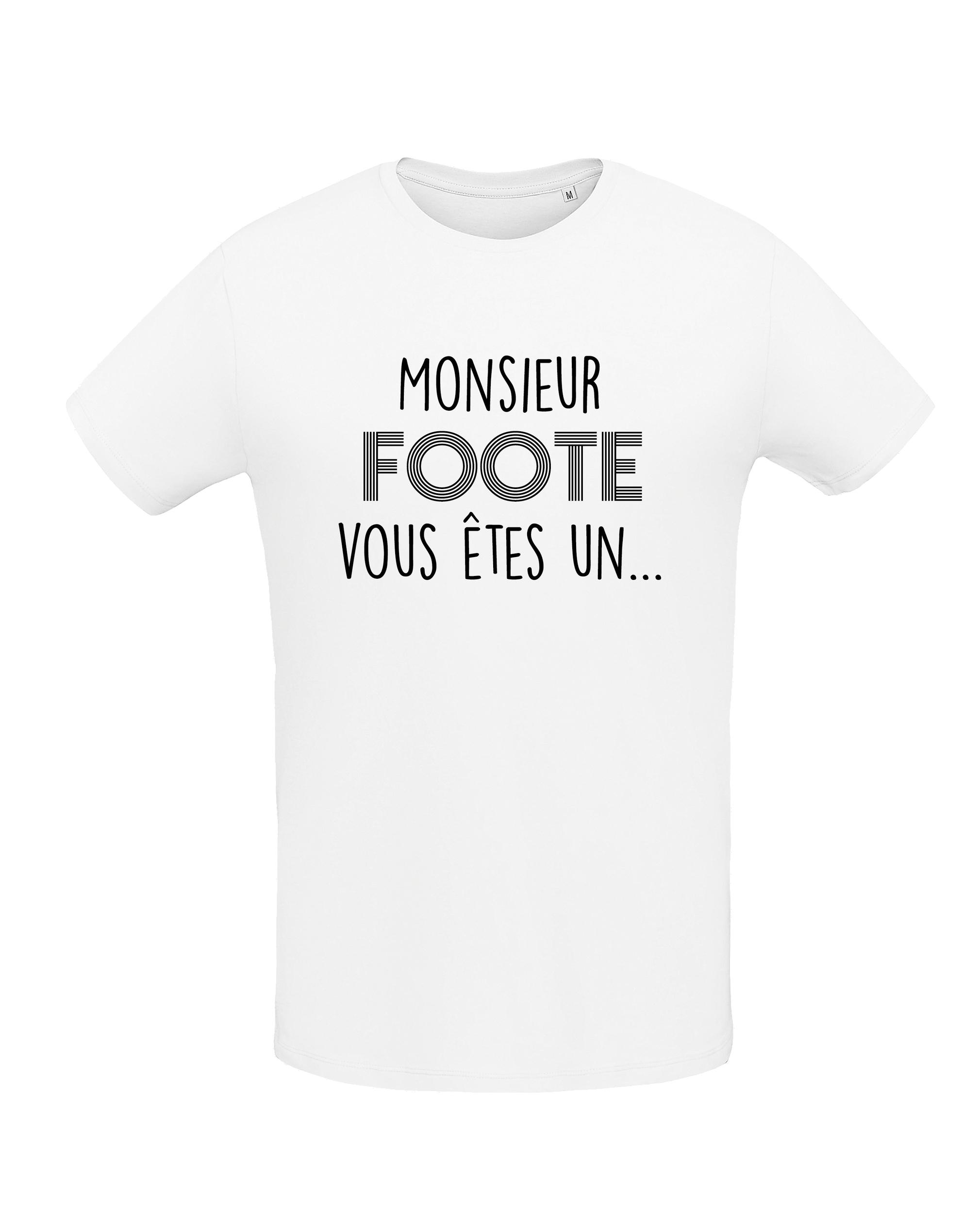 tshirt blanc homme monsieur foot
