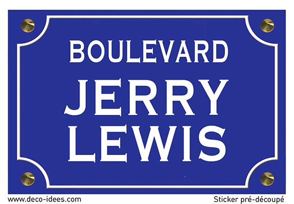 Sticker nom de rue, JERRY LEWIS