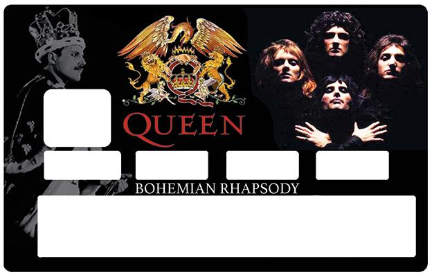 Sticker pour carte bancaire, Tribute to QUEEN bohemian Raphsody