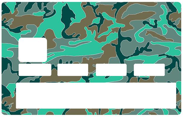 Sticker pour carte bancaire, Camouflage