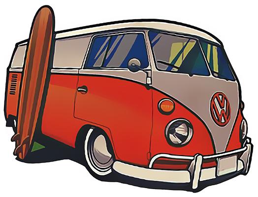 Sticker le COMBI VW H.12 cm