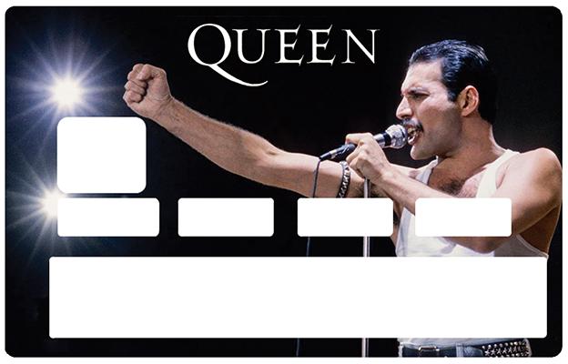Sticker pour carte bancaire, Tribute to Freddie Mercury & QUEEN