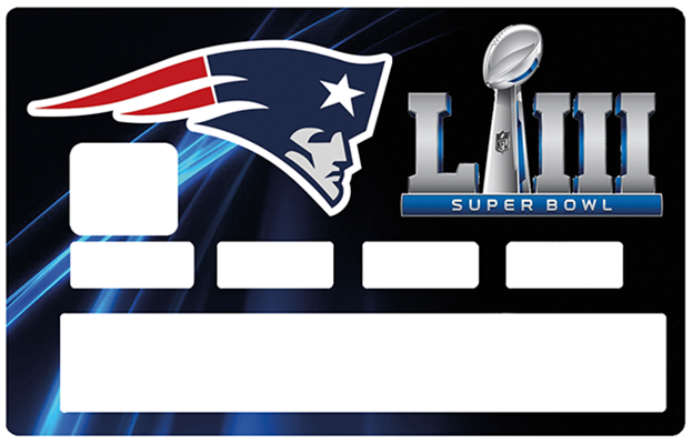 Sticker pour carte bancaire, Tribute to New England PATRIOTS, SUPER BOWL 2019