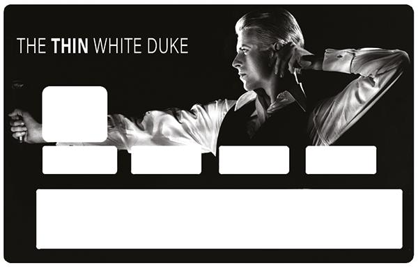 Sticker pour carte bancaire, Tribute to DAVID BOWIE, The Thin white duke
