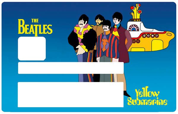 The BEATLES, Yellow Submarine, Sticker pour carte bancaire type ELECTRON