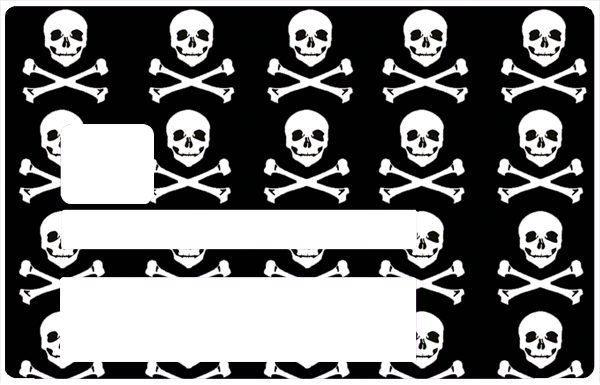 Pirate, Sticker pour carte bancaire type ELECTRON