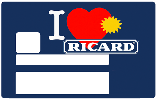 I Love Ricard, Sticker pour carte bancaire type ELECTRON