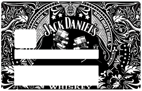 I Love Jack Daniel, Sticker pour carte bancaire type ELECTRON