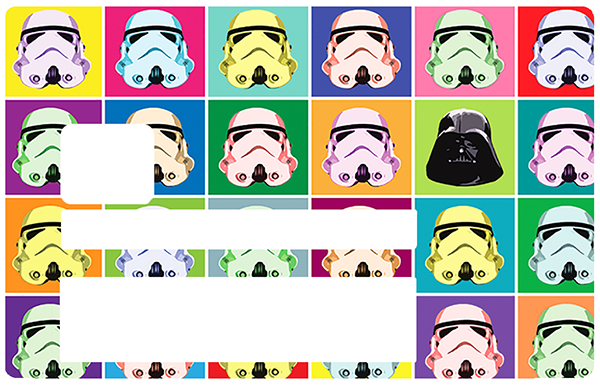 Startrooper, Sticker pour carte bancaire type ELECTRON