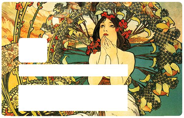 La femme art deco, Sticker pour carte bancaire type ELECTRO
