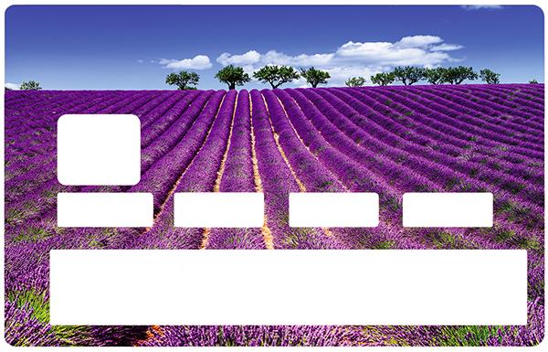 Sticker pour carte bancaire, Champs de Lavande