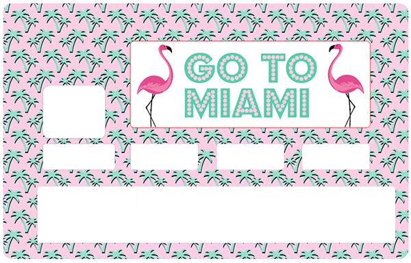 Sticker pour carte bancaire, Go to Miami