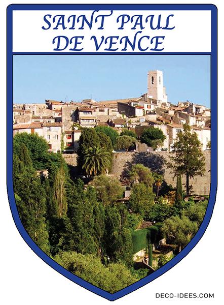 Sticker, Blason de SAINT PAUL DE VENCE