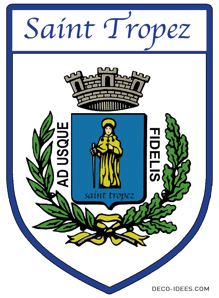 Sticker, Blason de  SAINT TROPEZ HISTORIQUE