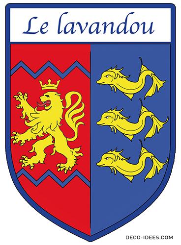 Sticker, Blason LE LAVANDOU