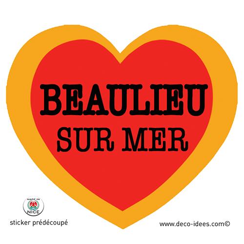 Sticker Le Coeur de BEAULIEU SUR MER