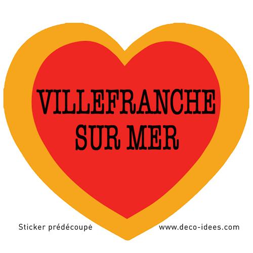 Sticker Le Coeur de VILLEFRANCHE SUR MER