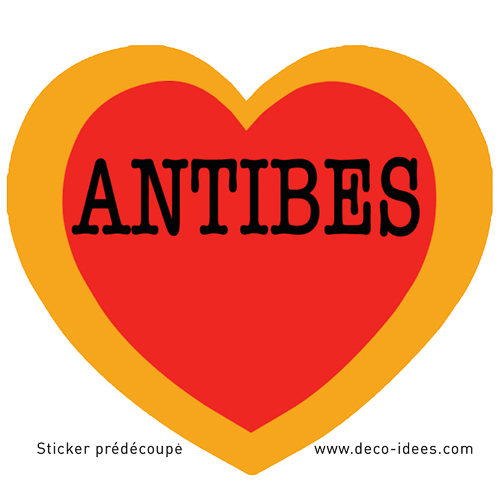 Sticker LE COEUR D\'ANTIBES