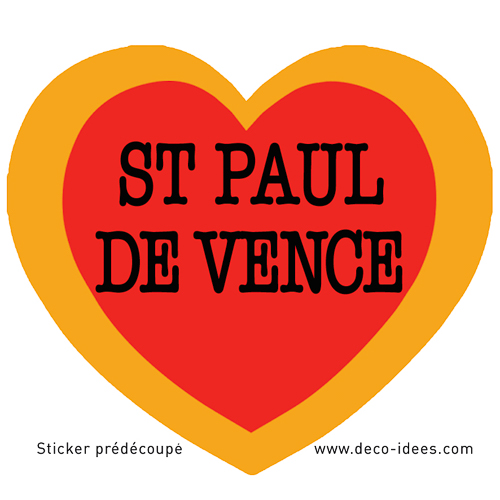 Sticker Le Coeur de SAINT PAUL DE VENCE