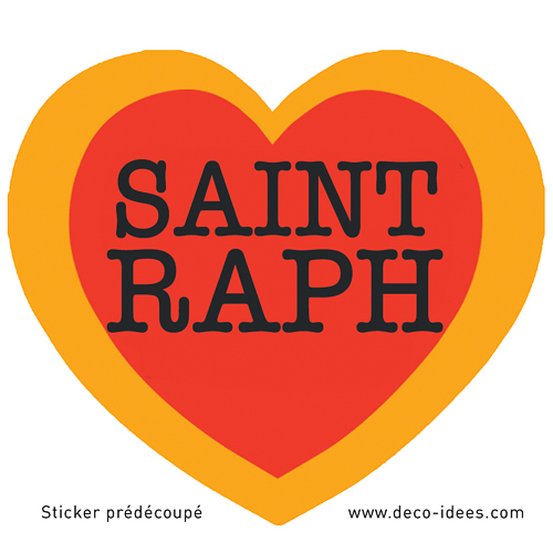 Sticker Le Coeur de SAINT RAPH