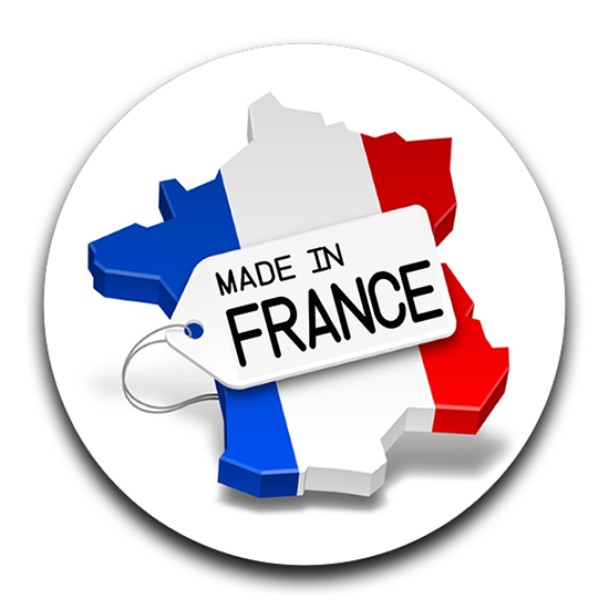 Sticker rond MADE IN FRANCE, 12 stickers