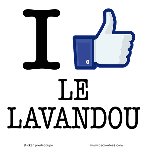 Sticker I LIKE LE LAVANDOU