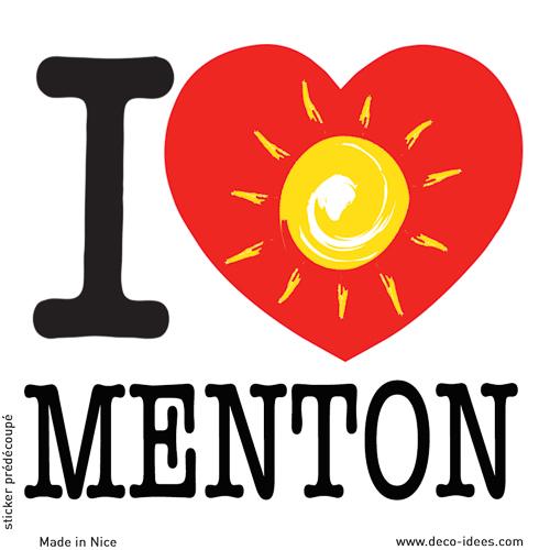 Sticker I LOVE le soleil de MENTON