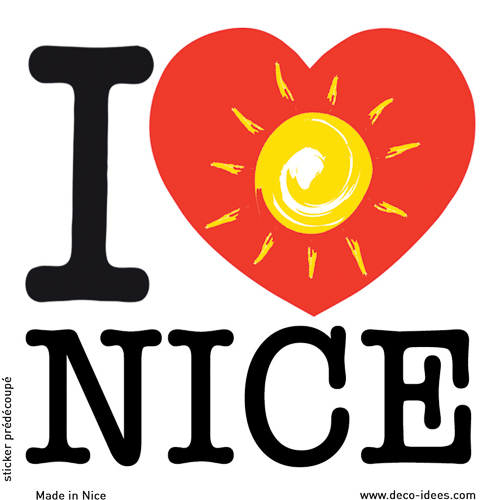 Sticker I LOVE le soleil de NICE
