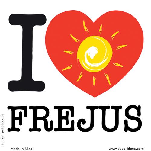 Sticker I LOVE le soleil de FREJUS