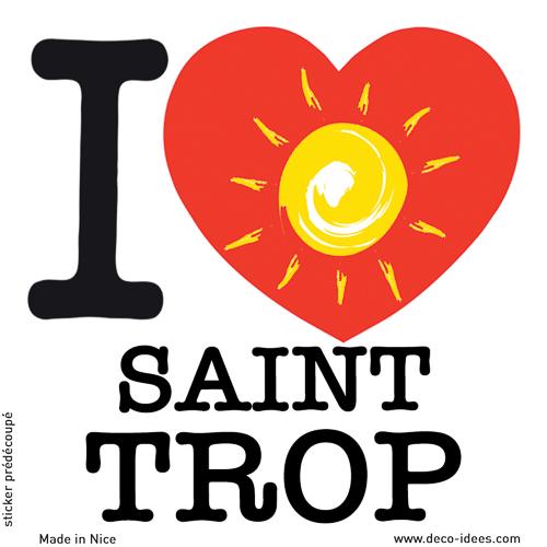 Sticker I LOVE le soleil de SAINT TROP