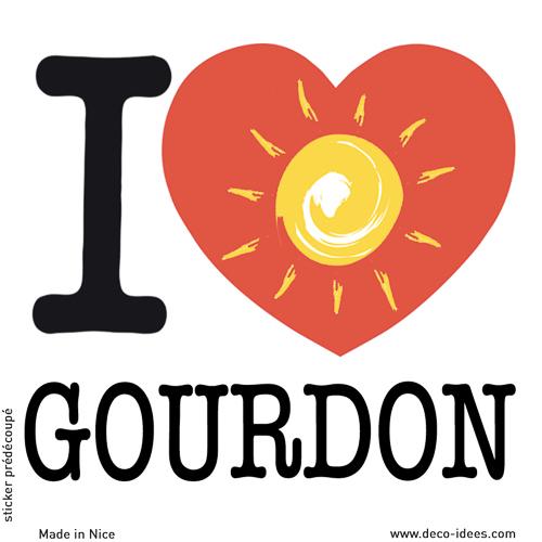 Sticker I LOVE le soleil de GOURDON