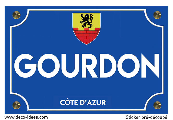 Sticker plaque de rue, GOURDON