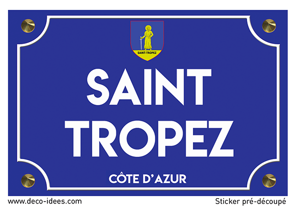 Sticker plaque de rue, SAINT TROPEZ