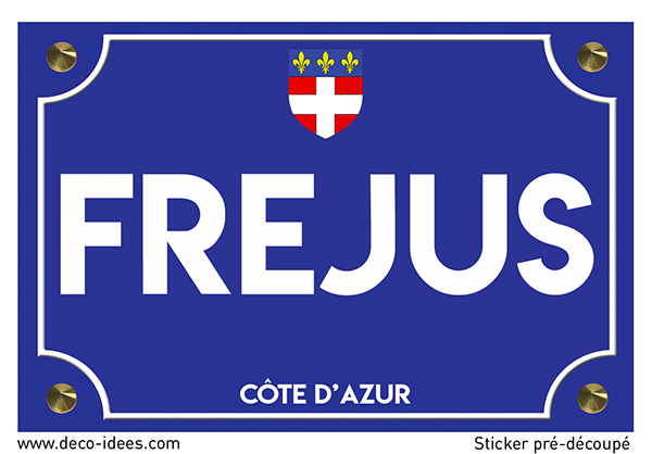 Sticker plaque de rue, FREJUS