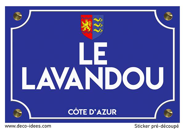 Sticker plaque de rue, LE LAVANDOU