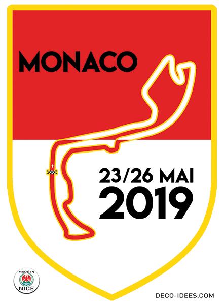 Sticker blason de ville MONACO le Grand Prix F1 2019