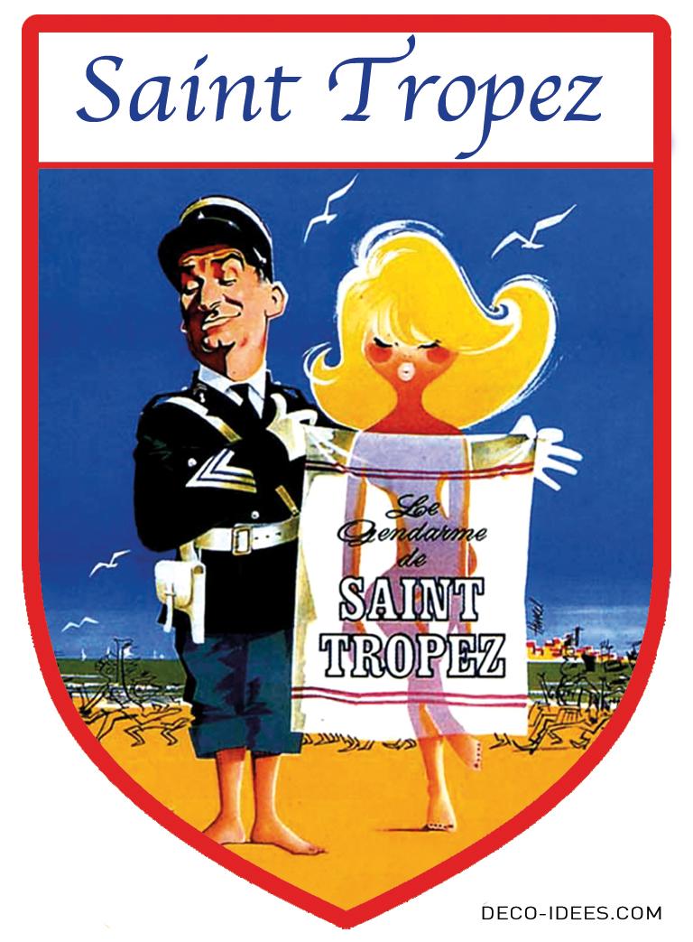Sticker Blason de ville LE GENDARME DE SAINT TROPEZ