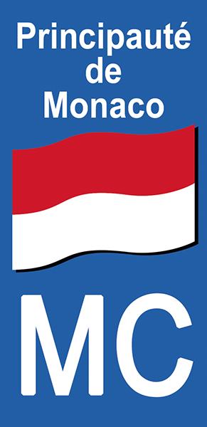 Sticker pour plaque d\'immatriculation, Principauté de MONACO