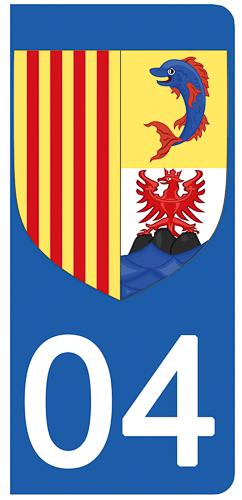 2 stickers pour plaque d\'immatriculation Auto, 86 Vienne