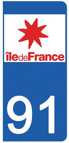 2 stickers pour plaque d\'immatriculation Auto, 91 Essone