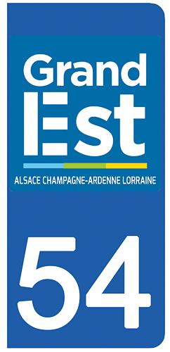 2 stickers pour plaque d\'immatriculation pour Auto, 54 Meurthe et Moselle