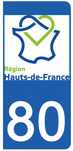2 stickers pour plaque d\'immatriculation pour Auto, 80 Somme