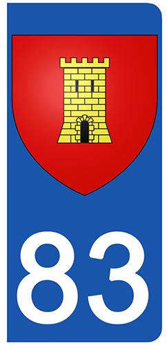 2 stickers pour plaque d\'immatriculation Auto, 83 Var, Saint Maxime