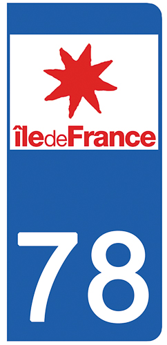 2 stickers pour plaque d\'immatriculation Auto, 78 Yvelines