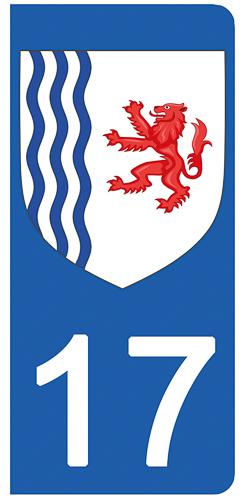 Badges, Insignes, Mascottes Auto, Moto – Pièces, Accessoires 17 Charente-maritime Departement Immatriculation 2 X Autocollants Sticker