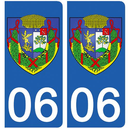 2 stickers pour plaque d\'immatriculation Auto, 06 Beaulieu sur mer
