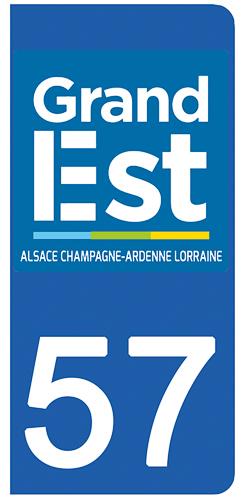 2 stickers pour plaque d\'immatriculation pour Auto, 57 Moselle