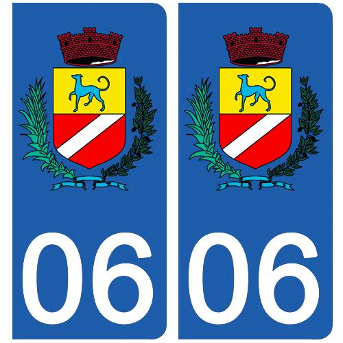 2 stickers pour plaque d\'immatriculation Auto, 06 Cagnes sur mer