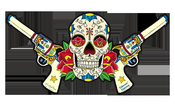 Sticker Catarina Calavera, crée par le DgedeNice  L.9.5 CM