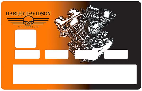 Sticker pour carte bancaire, Tribute to Harley davidson, Edition limitée 100 ex